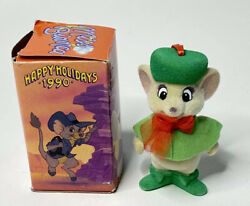 Vtg Disney Rescuers Down Under Miss Bianca Flocked Holiday Christmas Ornament