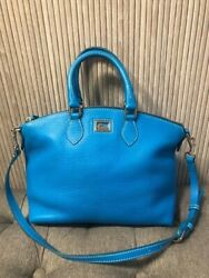 Authentic Dooney and Bourke Dillen Satchel Blue Leather $70.00