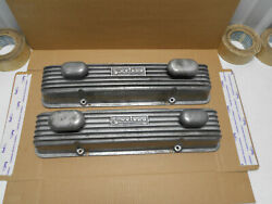 1950s Say Why-and Weiand Aluminum Valve Covers Chevy 283 327 Eelco Breathers