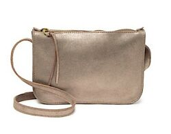 NWT Madewell Metallic Sand Simple Suede Crossbody Clutch $14.95