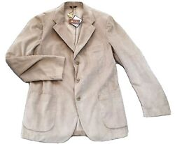 2,695 Loro Piana Cashmere And Cotton Blazer Size Eu 52 Or Us 42 Made In Italy