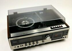 Vintage Sony Hmk 419 Stereo Music System Turntable Fm Cassette Player Record