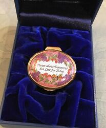 Halcyon Days Enamel Box Dream About Tomorrow But Live For Today New In Box