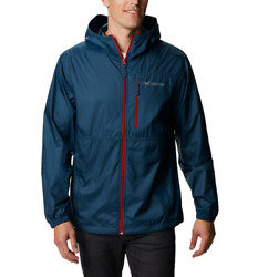 Brand New Columbia Pfg Morning View Packable Hooded Jacket Men Upf 40 - Blue