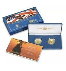400th Anniversary Mayflower Voyage 2-coin Gold Proof Set 2020 Us Mint Confirmed