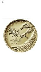 End Of World War Ii Ww2 75th Anniversary 24-karat Gold Medal Coin In Hand