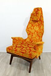 Mid Century Modern Vintage Adrian Pearsall High Back Accent Lounge Chair 1960s