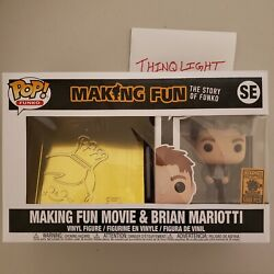 Funko Making Fun Dvd/blue-ray And Pop Brian Mariotti Bundle Le 5000 In Hand