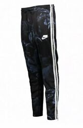 Nike Sportswear NSW Blocked Logo Floral Track Pants Black AR1613 010 Size XS NEW