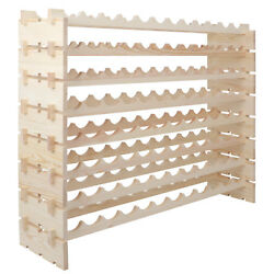 Modular Wine Rack Stackable Storage Stand Display Shelves 96 Bottle, 8 Rows X 10