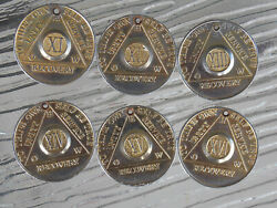 Alcoholics Anonymous 11 12 13 14 15 And 16 How Recovery Medallion Chip Token