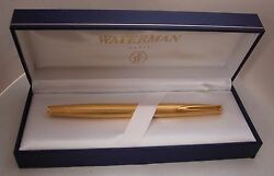 Waterman - A French Made Vintage 18k Hallmarked Solid Yellow Gold Fountain Pen
