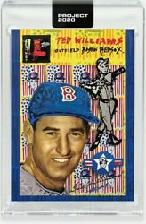 Topps PROJECT 2020 Card 345 1954 Ted Williams by Gregory Siff Boston Red Sox