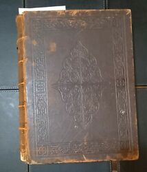 Antique Family Bible, John Mc'farlane, Collins, 1864 Henry And Scott Commentary