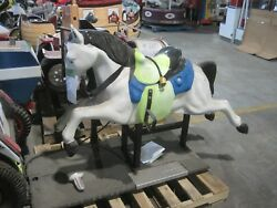 White Horse Coin Operated Ride Kiddie Amusement Mall Collectible Antique
