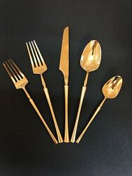 Gold 5 Pieces Stainless Steel Flatware Set-dinner Ware Set/flatware/table