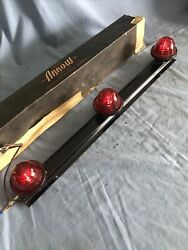 Arrow Vintage Truck Roof Cab Marker Clearance Lights With Glass Lenses Nos W-box