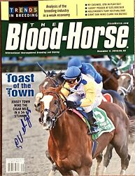 Jersey Town Signed By C Velasquez Cigar Mile '10 Barclay Tagg Blood Horse