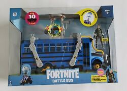 Fortnite Battle Bus Deluxe Vehicle Features 4andrdquo Action Figures Recruit Sold Out