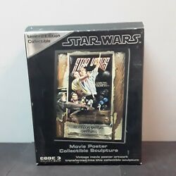 Code 3 Collectibles Star Wars Style Movie Poster Sculpture New In Box