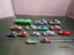 Vintage Lot Of Tootsie Toy Metal Cars And Trucks