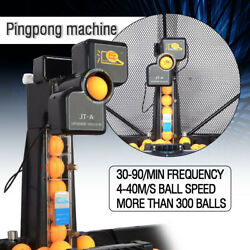 Jt-a Table Tennis Robot Automatic Ping-pong Ball Machine Practice Recycle W/ Net