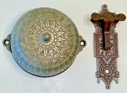 Brass Victorian Double Strike Doorbell And Lever Sargent
