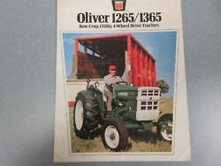 Oliver 1265 1365 Farm Tractor Sales Brochure 8 Pages