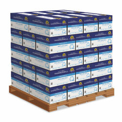 Great White Recycled Copy Paper, 92 Bright, 20lb, 8-1/2 X 11, 200,000 Sheets/plt