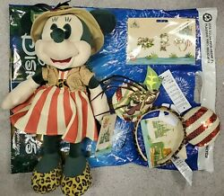 Minnie Mouse Main Attraction Jungle Cruise Plush, Ears And Pins