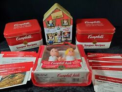 Vintage Campbell's Soup W/recipe's Tins Campbell's Kid's Clubhouse Tin 5 Dolls
