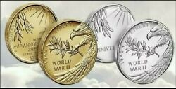 End Of World War Ii 75th Anniversary 24-karat Gold Coin And Silver Medal, On Hand