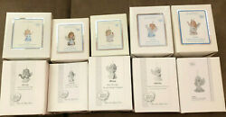 Precious Moments Annual Angel Series Ornaments - Complete Set Of 10