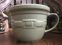 Longaberger Pottery Woven Traditions Sage Measuring Cup/pitcher
