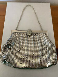 Vintage Silver Sequined Clutch Purse $17.00