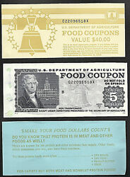 Food Stamp Coupon Usda One Coupon 1997 B 5.00 With Book Covers.