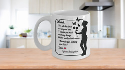 To Dad From Daughter Funny Cute Coffee Mug Cup Father Daughters Special Moments