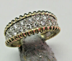 Estate 1.03 Ctw Diamonds Dome Ring 14k Gold Size 11 Pavand039e Style Band Make Offer