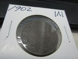 1902 - Canada Circulated One Cent Coin - Canadian Penny