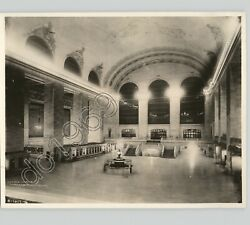 Vtg Irving Browning Photo Interior Grand Central Station New York City Nyc 1930s