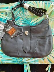 Diamond Plate black crossbody purse with Skull accent NWT $24.99