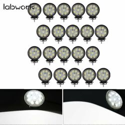 20x 540w 27w Round Flood Led Work Light Bar Offroad Driving Lamp Suv Boat Truck