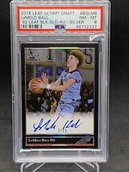 2018 Lamelo Ball Leaf On Card Auto Silver 7/15 Psa 8 Rookie Xrc Population 2 💎