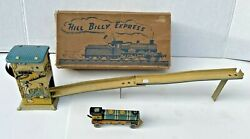 Vintage 1930's Tin Wind Up Hillbilly Express Train. Made In England Original Box