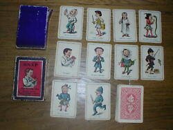 Antique 1880's Snap Card Game Spear Works, Bavaria 10x4 Cards In Original Box