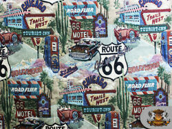Chenille Designed ROUTE 66 Pattern TAPESTRY Fabric 56quot; Wide Sold By The Yard