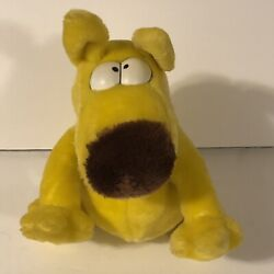1987 Grimmy Plush Dog 10 Mother Goose And Grimm By 24k Posable Head