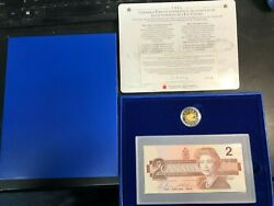 1996 Canada 2 Proof Coin And Bank Note Set Brx Replacement Note Box And Coa