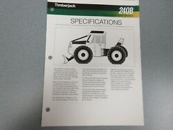 Timberjack 240b Cable Skidder Sales Sheet 2 Pages