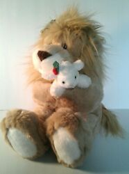Dayton Hudson Lion And Lamb Christmas Peace Stuffed Plush Toy 1994 - Excellent